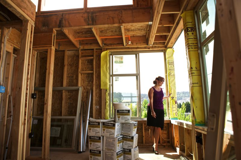 by: TRIBUNE PHOTO: JAIME VALDEZ - Footprint CEO Cathy Reines says prospective tenants are already calling about the 200-square-foot micros shes building on Northwest Thurman Street just off 23rd Avenue. Footprint has filled 18 micro apartment buildings in Seattle, and Reines expects the Portland market to follow a similar path.