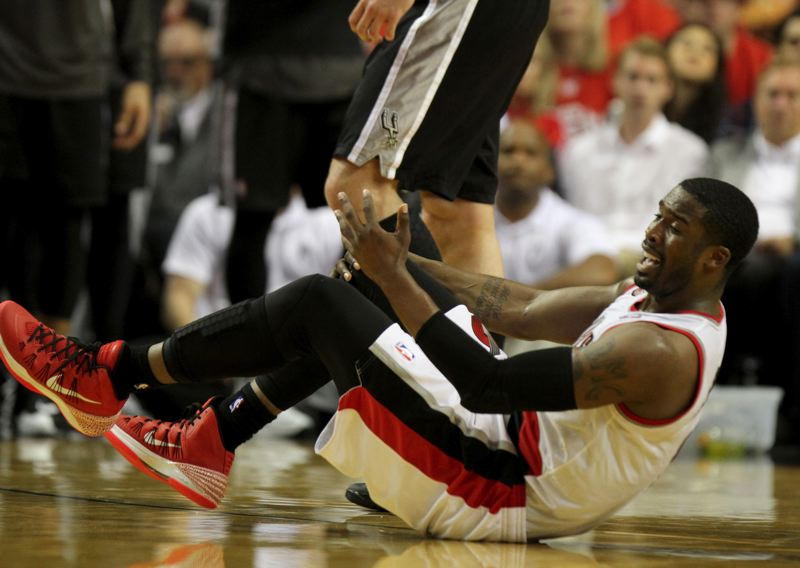 by: TRIBUNE PHOTO: JONATHAN HOUSE - Wesley Matthews of the Trail Blazers wonders about a call.
