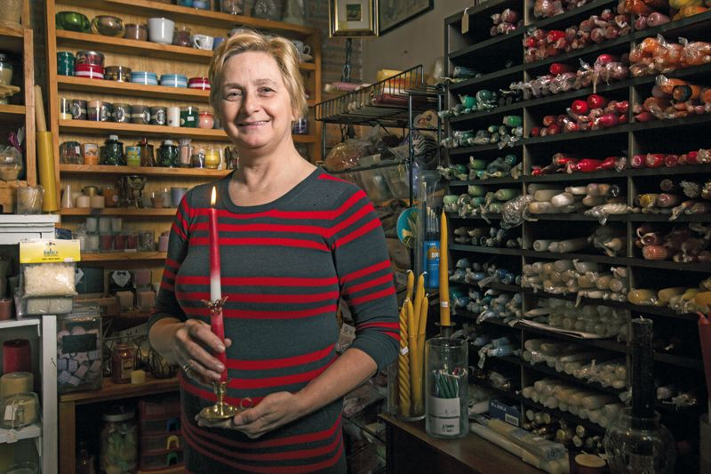by: PAMPLIN MEDIA PHOTO: JONATHAN HOUSE  - Camelia Moss has found her calling in life, recycling and repurposing wax candles and wax products and giving them new life.