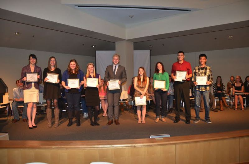 by: CONTRIBUTED PHOTO - Scholarship recipients include, from left, Katelyn Douglas, Kami Crockatt, Sarah Walker, Madison Statler, Alexander Ray, Katie Monroe, Madison Kinney, Michael Monda and Kevin Kim.