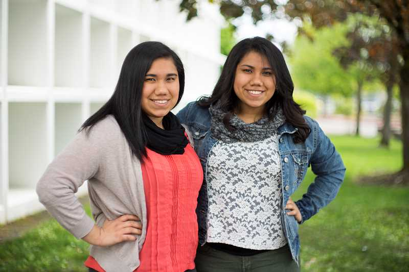 by: NEWS-TIMES PHOTO: CHASE ALLGOOD - Cornelius residents Alondra (left) and Alejandra Rojo, wholl graduate from Forest Grove High School June 7, will go their separate ways come fall. Alejandra will attend Oregon State University, while Alondra will head to the University of Oregon.