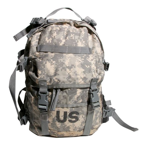 The stolen military backpack looks similar to this design.