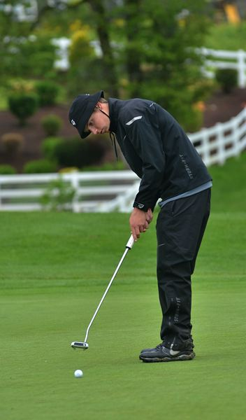 by: VERN UYETAKE - Lake Oswego's Brock Anderson had two of his best rounds of the season at last week's district golf tournament at Stone Creek. Anderson shot 73 on both days to take fourth place individually.