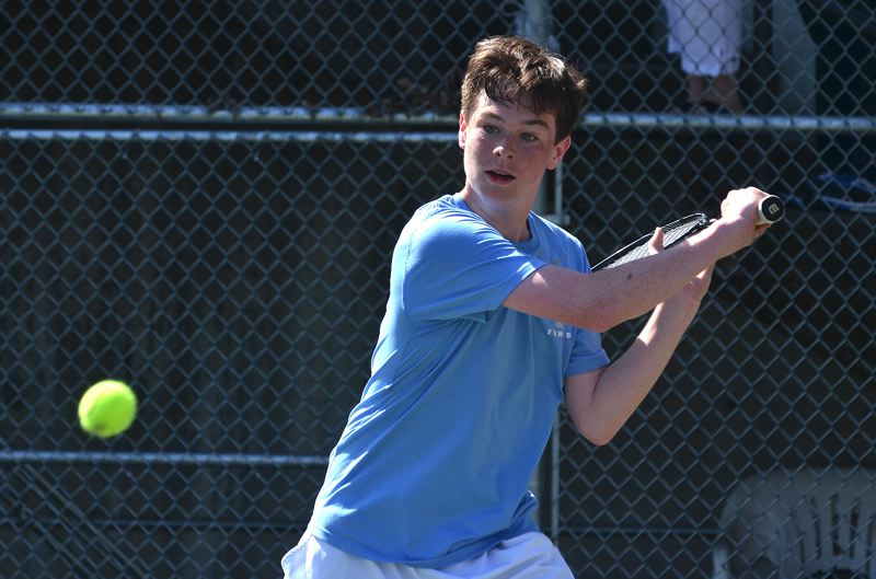 by: VERN UYETAKE - Lakeridge freshman Emmett Moore earned a trip to state and advanced to the district title match against teammate Matt Stephens.