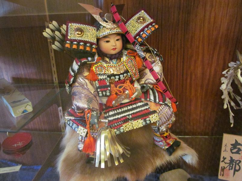 by: PHOTO BY ELLEN SPITALERI - An ornate Japanese doll, a gift from sister city Tateshina.