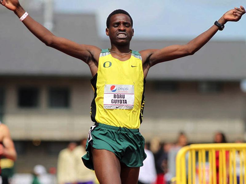 by: COURTESY OF UNIVERSITY OF OREGON - Former Jefferson High track and field standout Boru Guyota, nearing the end of his University of Oregon career, hopes to take what he has learned in the classroom to his native Ethiopia.