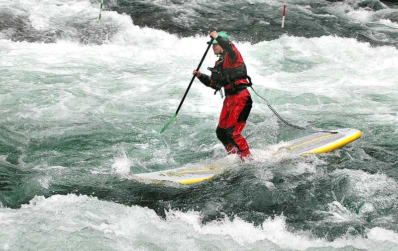 by: ISABEL GAUTSCHI - The event draws whitewater enthusiasts of all kinds. Even between events, whitewater atheletes couldn't stay off the course.