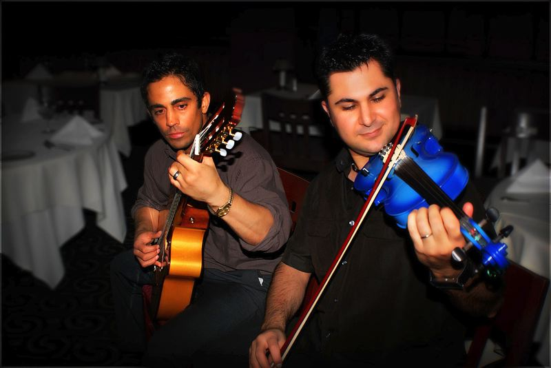 by: CONTRIBUTED PHOTO - Bobak Salehi, right, and Masud Tahmassbi will perform a free show at Mt. Hood Community College as Raz at noon Thursday, June 5.