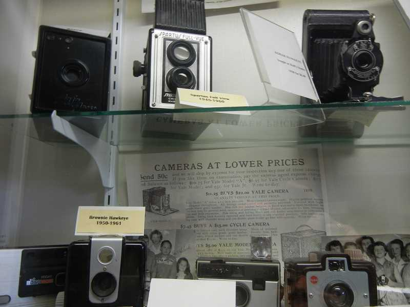 by: DONNA GRAMSE - The Woodburn Historical Museum has a number of donated collections, including a collection of camera equipment.