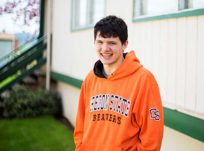 by: NEWS-TIMES PHOTO: CHASE ALLGOOD - David Boulanger, a member of Gaston High Schools Class of 2014, will be the first in his family to go on to a higher education after graduation June 7.