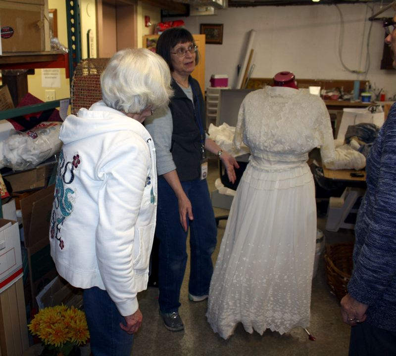 by: POST PHOTO: KYLIE WRAY - A good portion of the Historical Societys collection is kept in storage, ready to be changed out with the current items on display. The museum is working on spring themed displays.