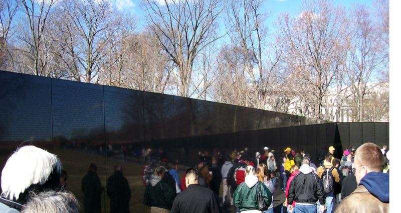 by: COURTESY OF ANDREW DEMKO - Students at the Vietnam Veterans Memorial in Washington, D.C., on a previous educational trip Rainier Junior/Senior High School teacher Andrew Demko's class made to the East Coast.