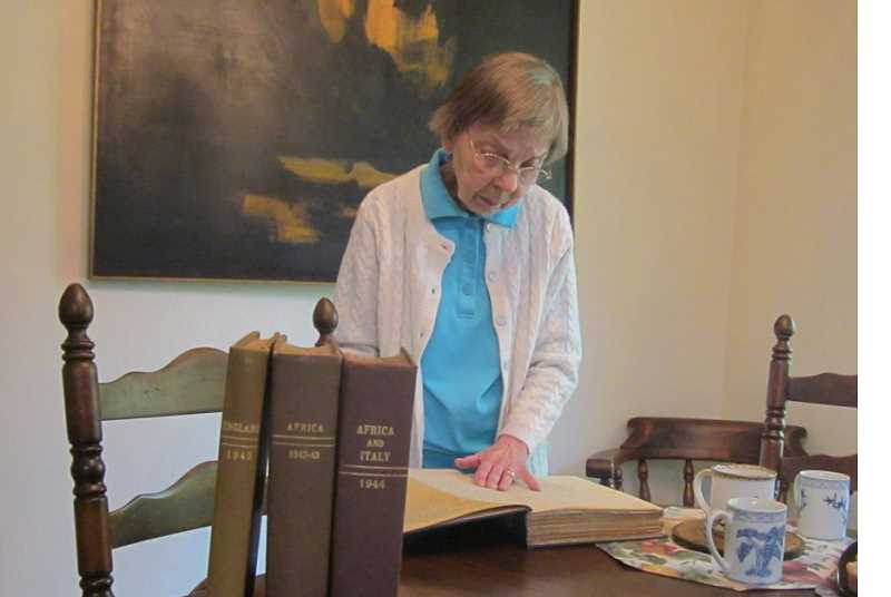 by: BARBARA SHERMAN - BIG PROJECT - Barb Clair has just started to read the volumes of letters written by her dad during World War II.