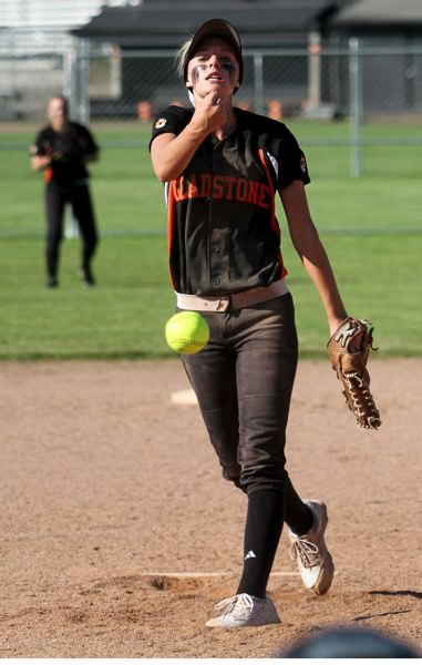by: JON HOUSE - Megan Kirchem had a tremendous senior year at Gladstone High School, finishing with a 19-2 record, a 0.50 ERA and a school-record 261 strikeouts in 140 innings. Kirchem was also Gladstones leading hitter, with 44 hits in 95 at bats, for a .463 batting average.