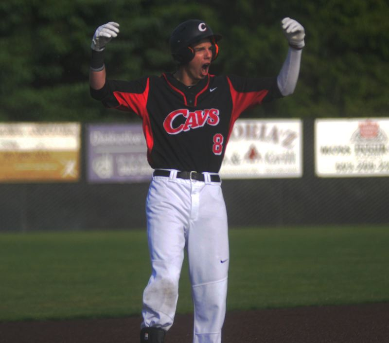 by: MATT SHERMAN - Clackamas centerfielder Elliott Cary celebrates after hitting a two-run, two-out triple in the Cavaliers 5-1 state-playoff win over West Linn. The game was a 1-1 tie at the time of Carys blast to left-centerfield. Cary last week was honored as the 2014 Gatorade Oregon Baseball Player of the Year. The award is made to a high school senior each year as it recognizes him as the top high school baseball player in the state for all classifications, Class 1A through 6A. Cary, who has accepted a scholarship to play baseball at Oregon State University, transferred to Clackamas from Florida for his senior year. And hes had a phenomenal senior season. Playing centerfield and pitching for the Cavaliers, he had a 512 batting average and .598 on-base percentage, with eight triples, 22 RBI, 31 runs scored and 25 stolen bases on the 2014 regular season. Im really honored, said Cary. Gatorade Player of the Year wasnt such a big deal in Florida. But I know it is here, because there are a lot of really great players in Oregon. Im truly honored. His junior year of high school, Cary hit .438 and he was named Northwest Florida Daily News Big School Hitter of the Year. His father, Chuck Cary, pitched eight years in the major leagues. Cary plans a business and marketing major at OSU. Clackamas senior Austin Kelly received the Gatorade Oregon Player of the Year honor in baseball in 2013.