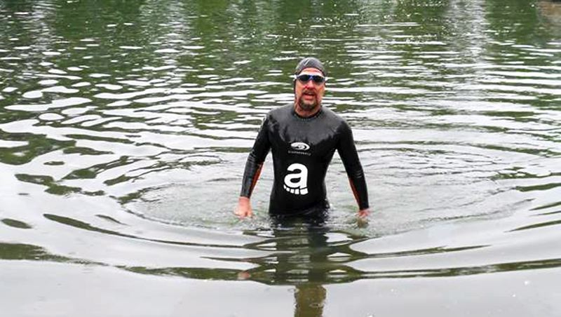 by: CONTRIBUTED PHOTO - Dean Hall of Gresham is trying to be the first person in history to swim the entire length of the Willamette River.