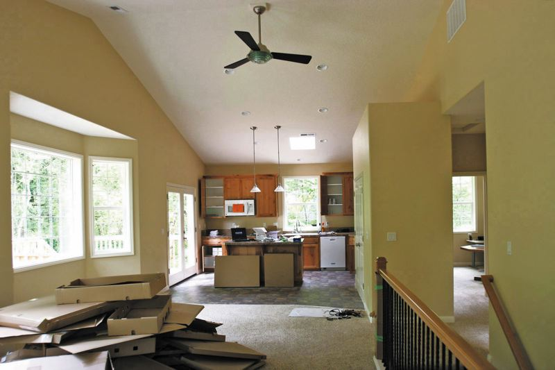 by: OUTLOOK FILE PHOTO: JIM CLARK - The interior of Shed B includes this kitchen area. The stairs on the right lead down to a basement.