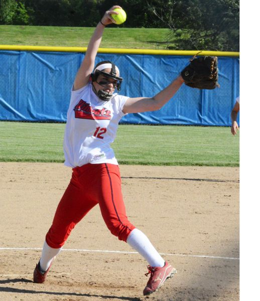 by: TIMES PHOTO: MATT SINGLEDECKER - Westview sophomore pitcher Abby Greer was great once again for Westview, striking out 12 while allowing just four baserunners against Barlow.