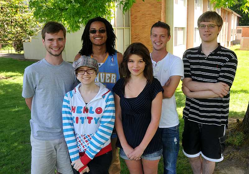 by: REVIEW PHOTO: VERN UYETAKE - The 2014 graduates of Park Academy include, from left: back row: Brandon Vance, Israel David, Drake Freeman and Walter Reyes; and front row: Charlotte King and Isabelle Stenberg. Nicholas Ryan Hess is not pictured.