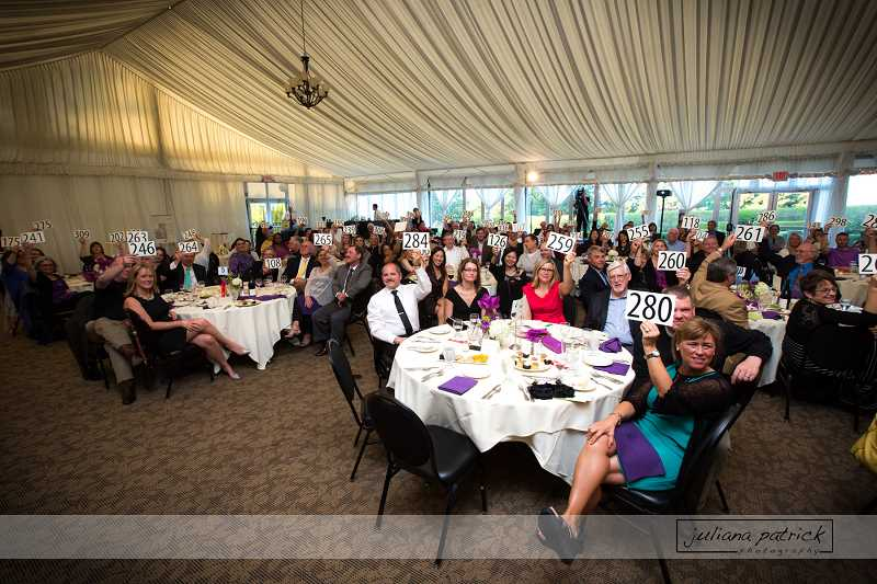 by: SUBMITTED PHOTO - Attendees at Clackamas Womens Services gala raised more than $90,000 to support its new A Safe Place Family Justice Center.
