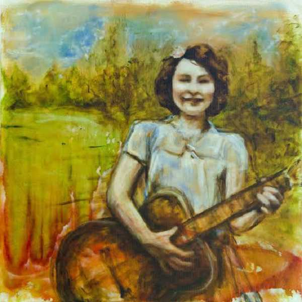 by: SUBMITTED PHOTO - Woman with Guitar is one of Rachel Sabin's pieces of art on exhibit at Trainer's Club during June.