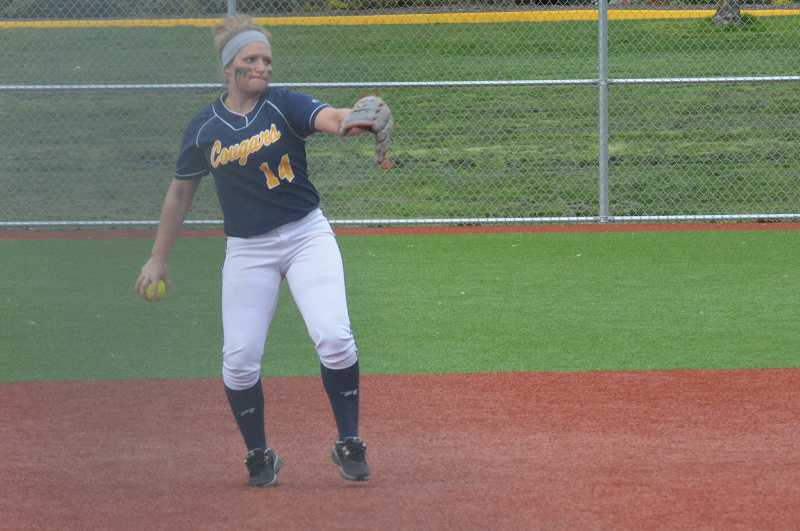 by: JEFF GOODMAN / FILE - Gina Bond hit a team-high eight home runs and scored 45 runs to power the Canby softball team's offense. She was named the Three Rivers League player of the year.