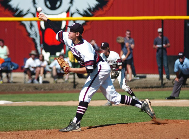 by: DAN BROOD - BIG-GAME BENNETT -- Tualatin junior Jacob Bennett picked up a complete-game pitching win and he had two hits at the plate in the Wolves' 9-2 victory over McMinnville.