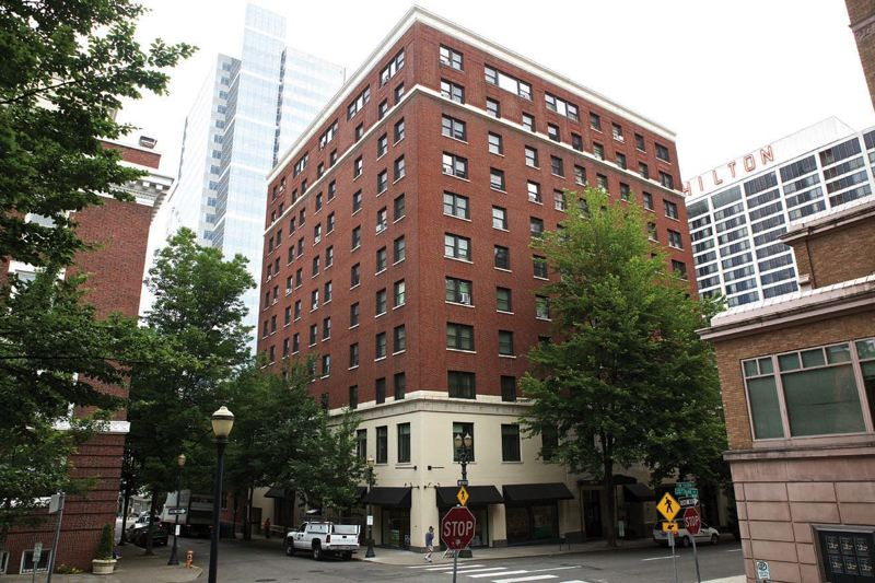 by: TRIBUNE PHOTO: JAIME VALDEZ - The original Heathman Hotel on Southwest Salmon Street near the South Park Blocks could be nominated this week to the National Register of Historic Places. The 11-story building has been converted to affordable housing.