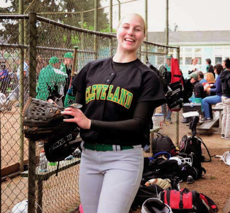 by: COURTESY OF GARY KEMP - Cleveland High senior Emily Rommel, who starred in three sports, was voted PIL 5A co-player of the year in softball.