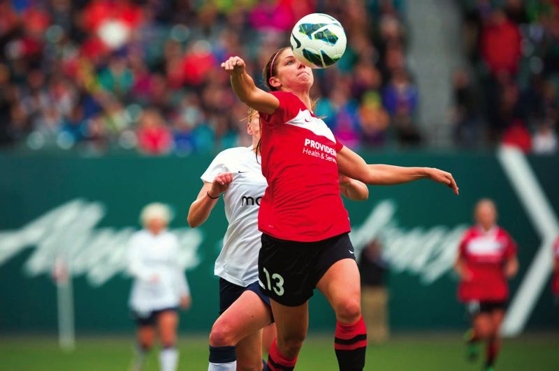 by: TRIBUNE FILE PHOTO: CHRISTOPHER ONSTOTT - Alex Morgan, who led the Portland Thorns FC in scoring last season with eight goals and five assists, returned from injury and made her season debut in last weeks 5-0 home loss to the Western New York Flash.