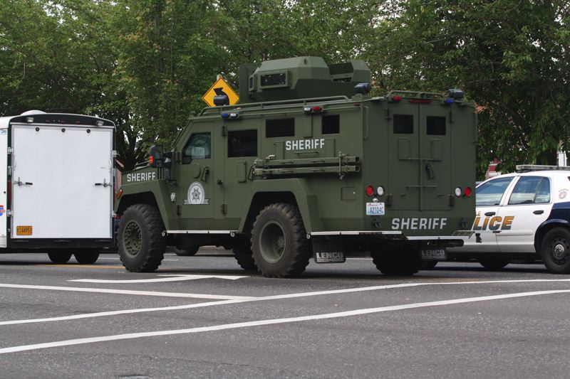 by: PAMPLIN MEDIA GROUP JIM CLARK - The Multnomah County Sheriff's Office tactical officers converged on Reynolds High School Tuesday morning after reports that a person had been shot.