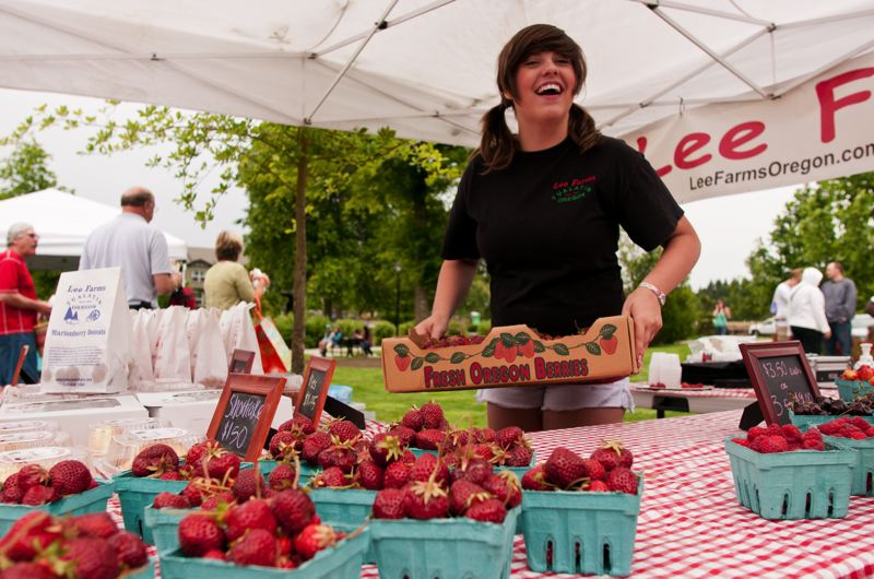 by: SPOKESMAN FILE PHOTO: JOSH KULLA - The Wilsonville Farmers Market opens for the season on June 11, complete with a full lineup of produce, flowers, arts, food carts and much more.