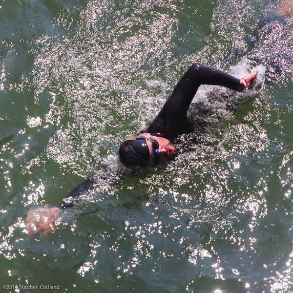by: CONTRIBUTED PHOTO: STEPHEN CRIDLAND - Dean Hall, a Gresham therapist and double-cancer patient, is 51 miles into being the first person in history to swim the Willamette River, 184 miles from Eugene to the confluence of the Columbia River in North Portland.