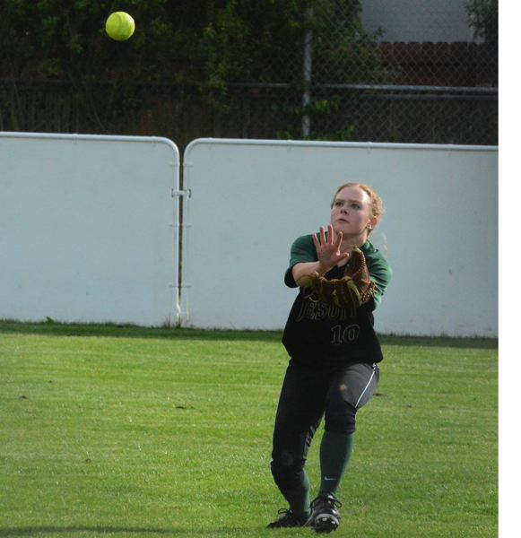 by: TIMES FILE PHOTO - Jesuit outfielder McKenna Holmes is one the young Crusaders coming back next season with hopes of rising up the Metro rnnks.