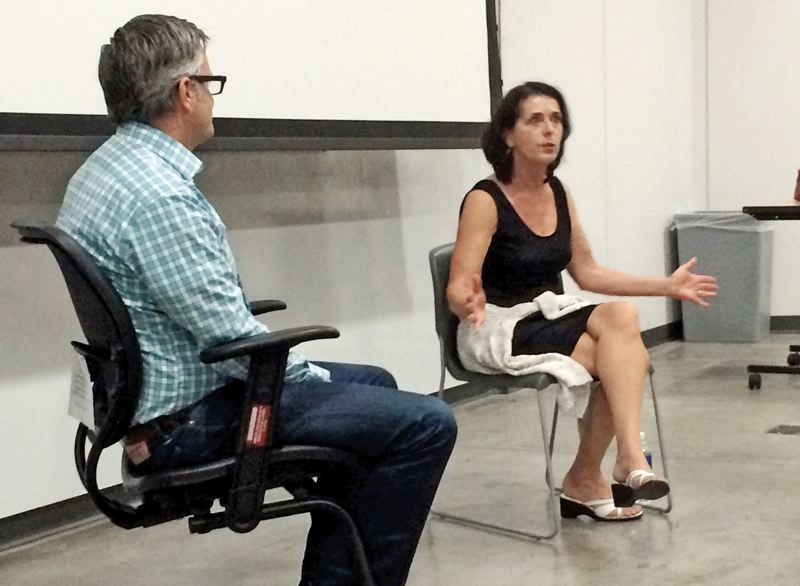 by: PHOTO COURTESY OF CHRISTINA WILLIAMS  - Activist Lois Gibbs shares her experiences at the Love Canal toxic waste site in a Q&A with former Mayor Sam Adams at Portland State University.