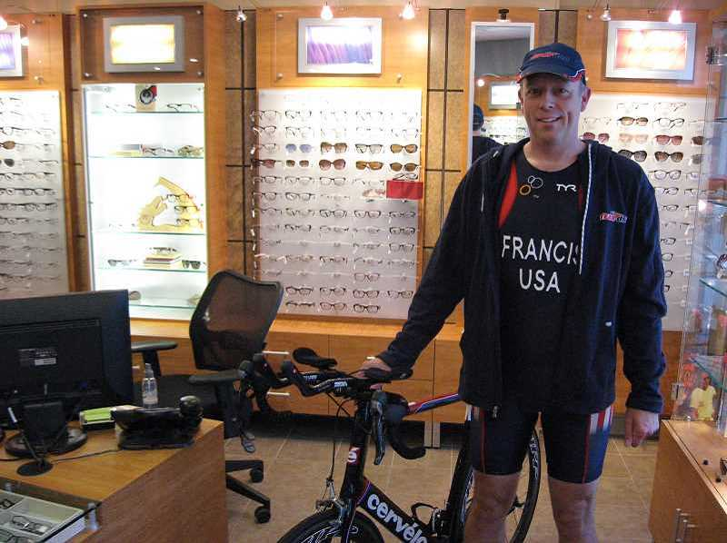 by: PAMPLIN MEDIA GROUP PHOTO: RAY PITZ - Dr. Peter Frances is preparing for the World Duathlon Championships set for June 1 in Pontevedra, Spain.
