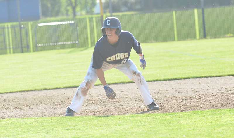 by: JEFF GOODMAN - Senior catcher David Kurronen was one of five Canby baseball players to receive all-conference recognition this season. The Cougars took fourth place in the Three Rivers League.
