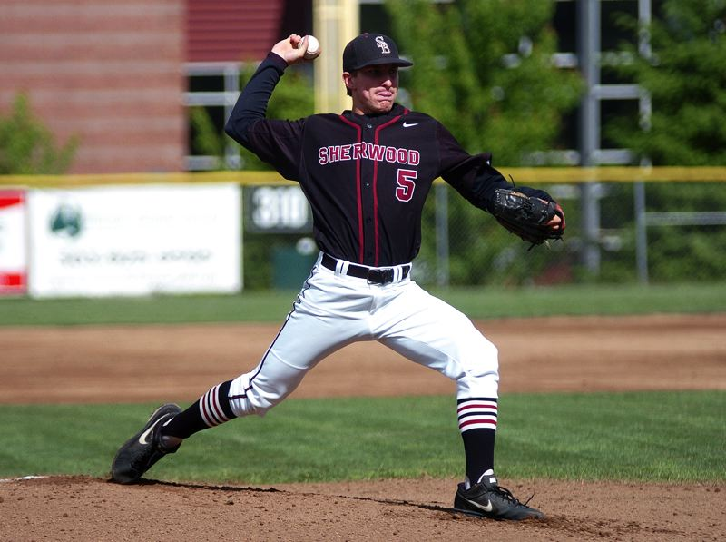 by: DAN BROOD - TOP PITCHER -- Sherwood senior Riley Moore was named the Northwest Oregon Conference Pitcher of the Year.