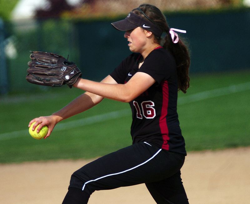 by: DAN BROOD - TOP PITCHER -- Tualatin junior Emily Sorem was named the Pacific Conference Pitcher of the Year.