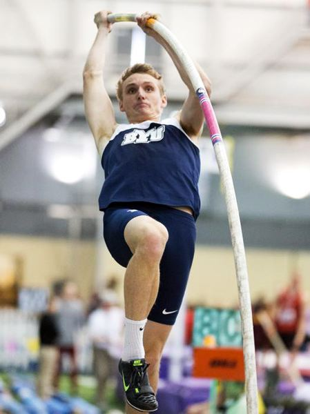 by: BRIGHAM YOUNG UNIVERSITY - GOING UP -- Chase Dalton's track and field career seems to be on the upswing.