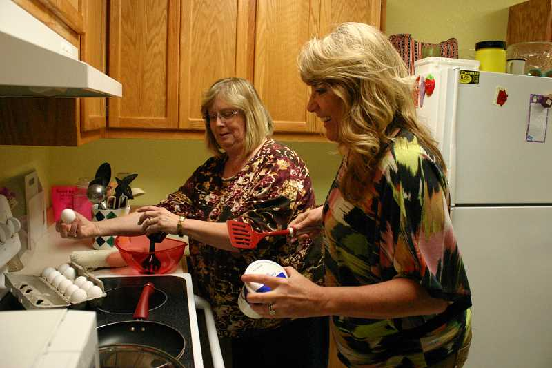 by: JASON CHANEY - LCS Case Manager Karen Bones (left) and Crook County Juvenile Department Case Manager Jill Bonanno (right) will teach free classes for teens and adults during the summer, including a cooking class.