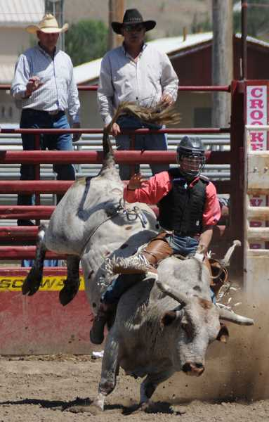 by: LON AUSTIN/CENTRAL OREGONIAN - Austin Severance finished second in bull riding.