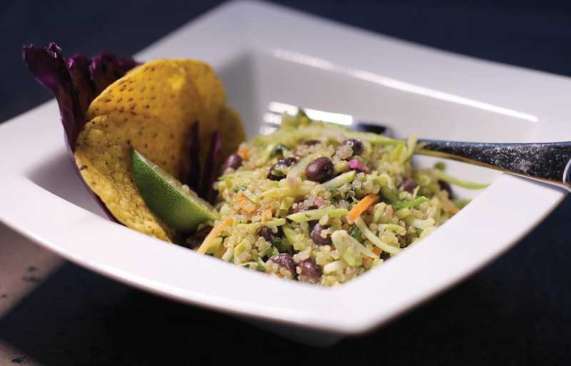 by: DAN PRED - This smoky lime quinoa salad is pictured with tortilla chips, but can also go well with grilled fish or chicken.