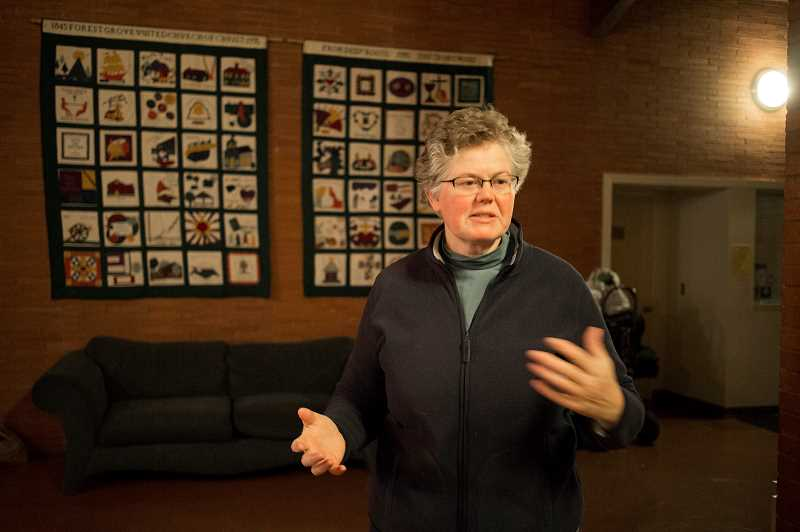 by: NEWS-TIMES FILE PHOTO: CHASE ALLGOOD - Forest Grove United Church of Christ pastor Jennifer Yocum is attempting to mitigate administrative and staffing challenges at the UCCs severe-weather shelter in time for its sixth season.