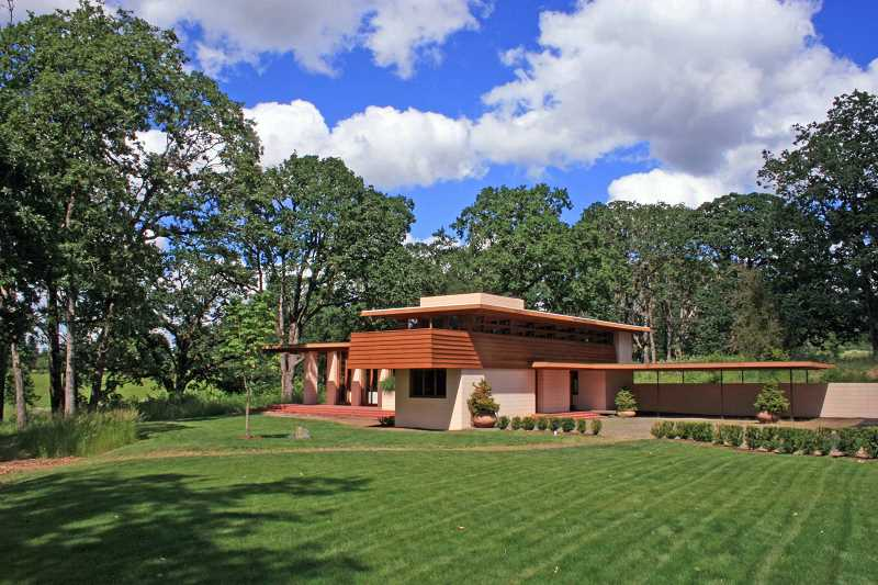 by: SUBMITTED PHOTO: ERIC SILBERG - The Gordon House was designed by Frank Lloyd Wright in 1957 and built on Conrad and Evelyn Wrights Wilsonville farm in 1964. The house was moved to The Oregon Garden in Silverton in 2002.