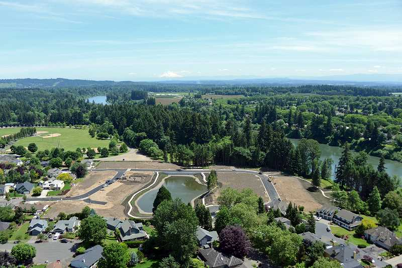 by: SUBMITTED PHOTOS: RENAISSANCE HOMES - This aerial photograph shows the layout of Renaissance Boat Club in Wilsonville.
