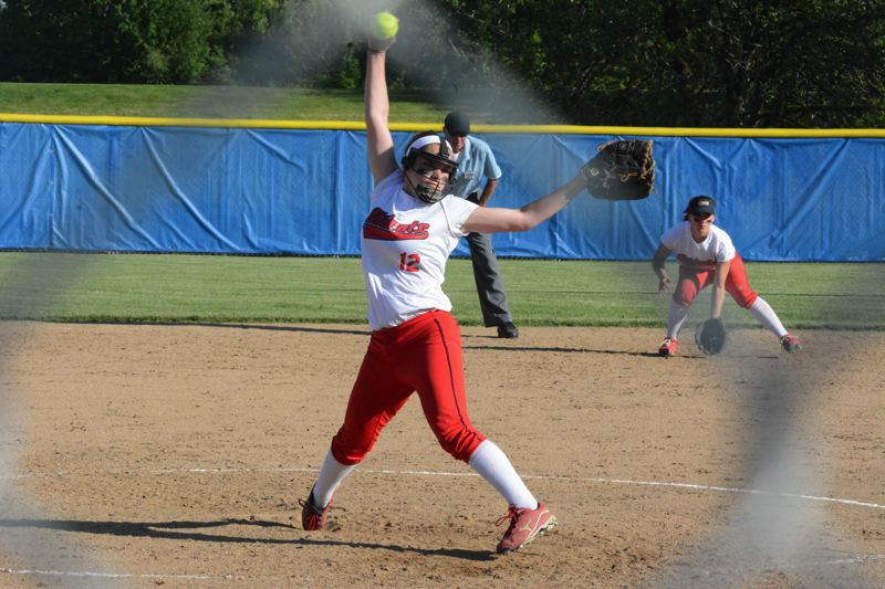 by: TIMES FILE PHOTO - Westview sophomore hurler Abby Greer was dominant all season in the circle and picked up Metros Pitcher of the Year Award.