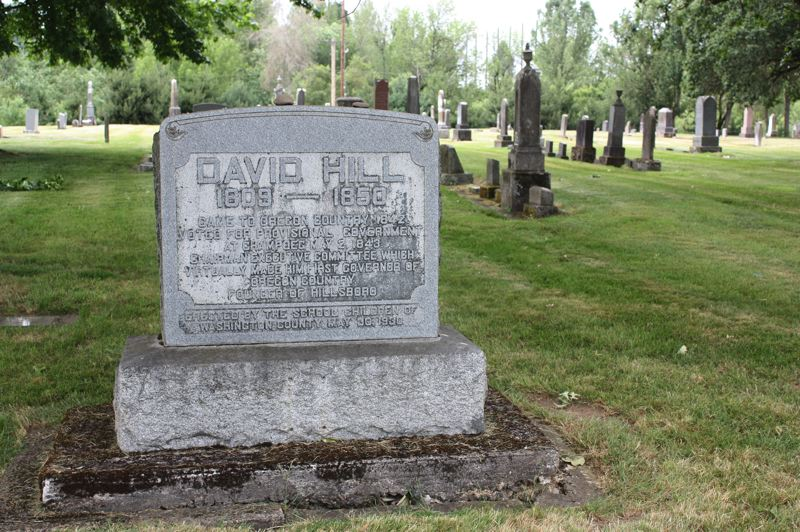 by: HILLSBORO TRIBUNE PHOTO: DOUG BURKHARDT - Ornate headstones are common in the Hillsboro Pioneer Cemetery, which has not seen new burials since the 1970s. David Hill, the founder of Hillsboro, is among the notable citizens at rest in the historic graveyard.