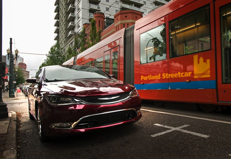 by: TRIBUNE PHOTO JOHN M. VINCENT - The redesigned 2015 Chrysler 200 was brought to Portland by factory representatives who said the midsize was their most important new car.