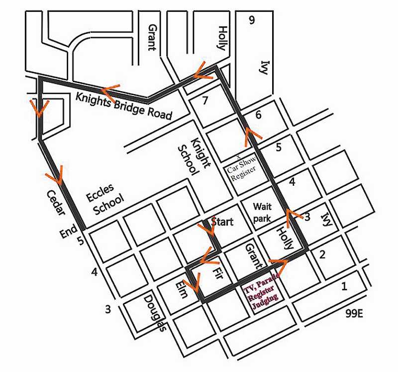General Canby Day parade route